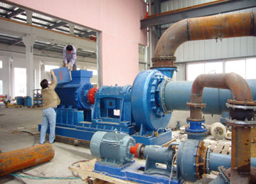 3000m3/h的防腐泵在测试中